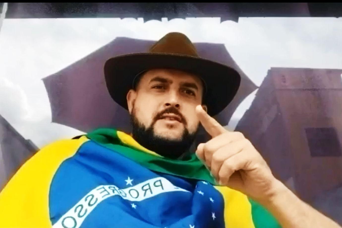 Caminhoneiro Zé Trovão é apontado como articulador de atos antidemocráticos. Foto: Reprodução/Youtube